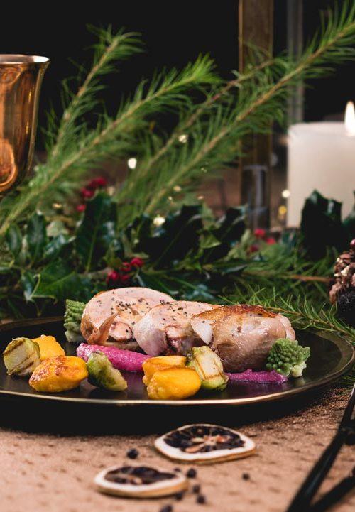 Caille farcie au foie gras, Menu de fêtes Noël et nouvel an 2017-2018, Maison Steffen, boucherie au Luxembourg