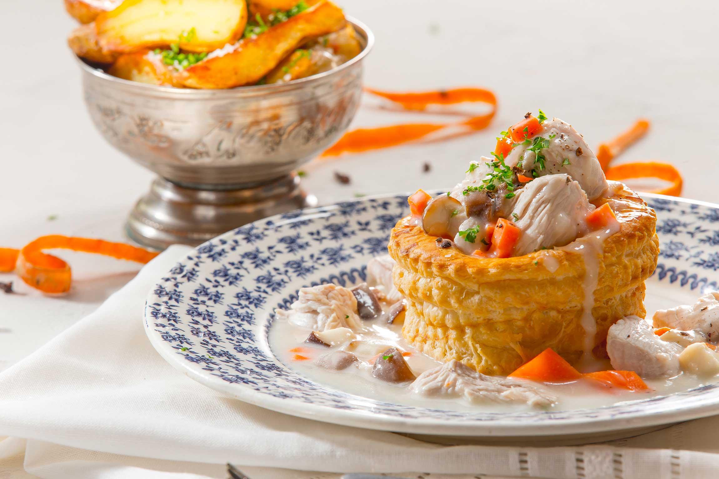 recette de bouchée à la reine maison steffen boucherie steffen artisans boucher luxembourg vol-au-vent