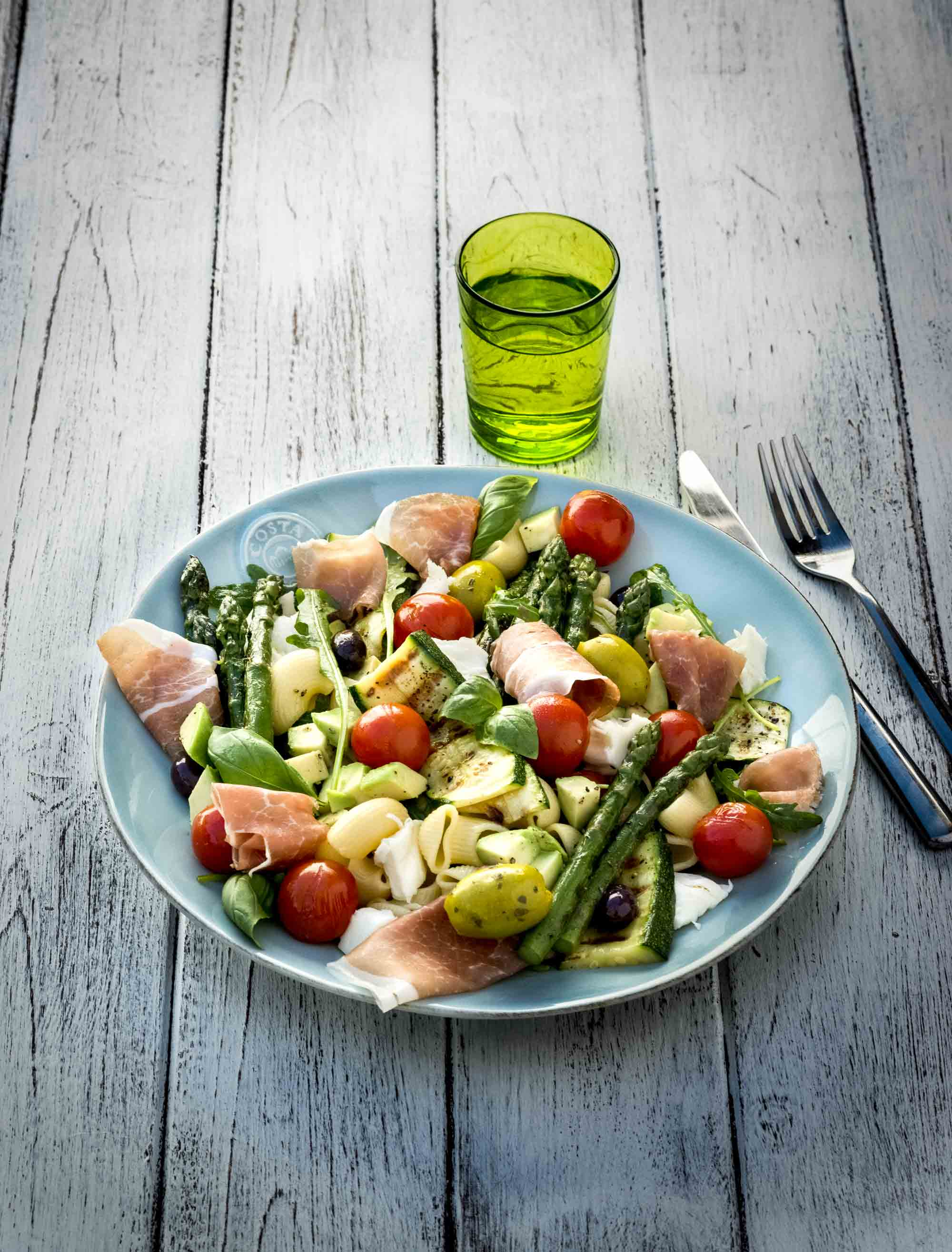 Salade de pâtes aux asperges et jambon LISANTO