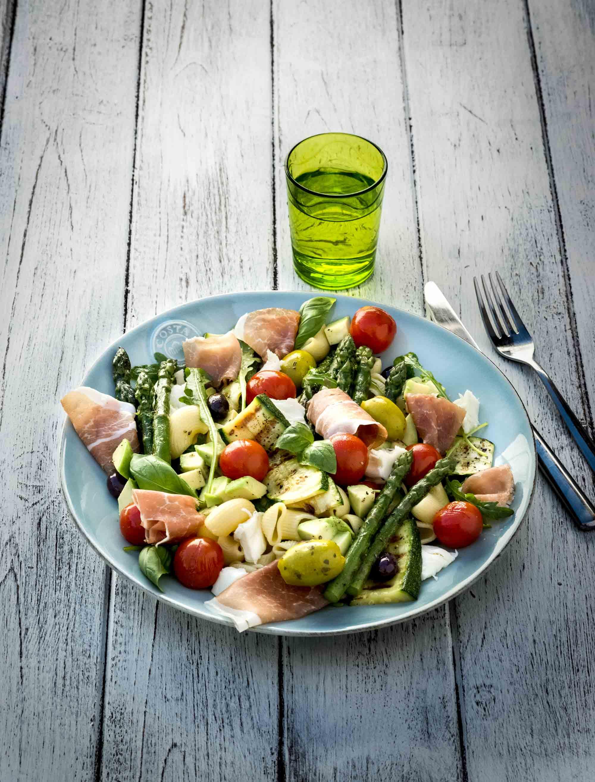 Maison steffen recettes salade p tes asperges jambon - Salade de pates jambon ...
