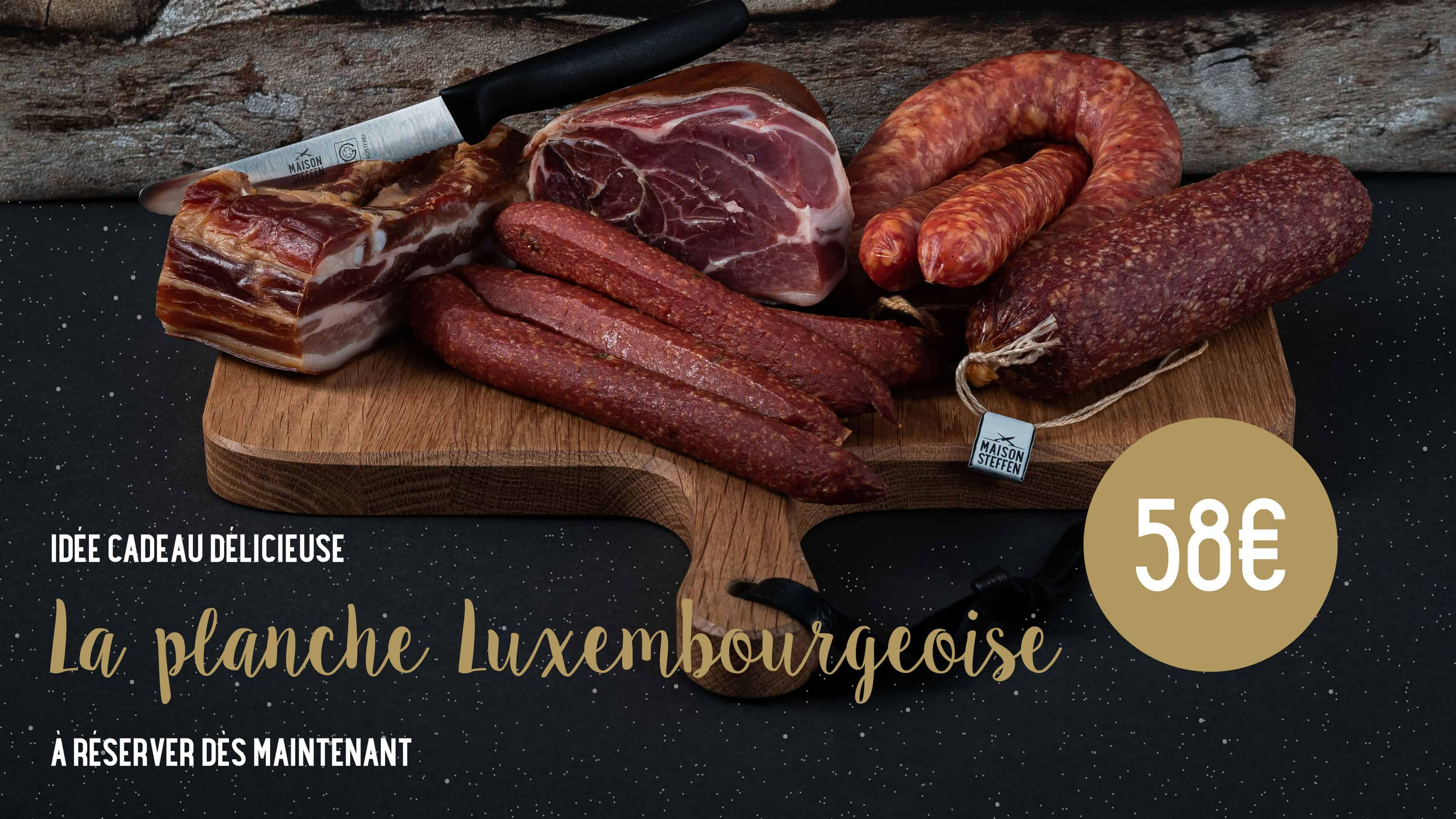Planche luxembourgeoise Idée cadeau pour homme noel nouvel an fetes de fin d'année maison steffen boucherie luxembourg